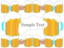 Fundo dos elogios da cerveja para felicitações Imagens de Stock