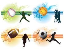 Fundo dos esportes ilustração royalty free