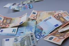 Fundo dos Euros Fotos de Stock