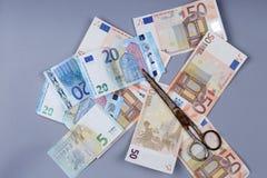 Fundo dos Euros Fotografia de Stock