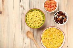 Fundo dos flocos de milho da mistura Fotografia de Stock