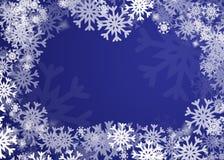 Fundo dos flocos de neve Fotos de Stock