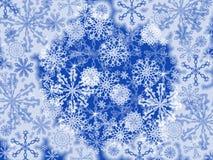 Fundo dos flocos de neve ilustração royalty free