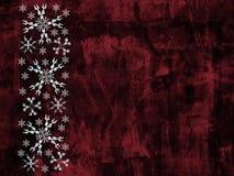 Fundo dos flocos de neve de Grunge Fotos de Stock Royalty Free