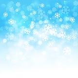 Fundo dos flocos de neve do inverno Fotos de Stock Royalty Free