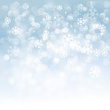 Fundo dos flocos de neve do inverno Fotografia de Stock Royalty Free