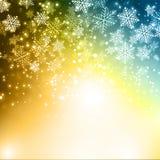 Fundo dos flocos de neve do Natal Foto de Stock