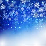 Fundo dos flocos de neve do Natal Ilustração Stock