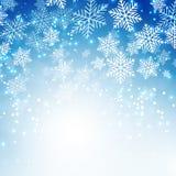 Fundo dos flocos de neve do Natal Imagem de Stock Royalty Free