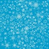 Fundo dos flocos de neve do Natal Imagens de Stock