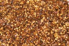 Fundo dos flocos de pimenta vermelha Foto de Stock Royalty Free