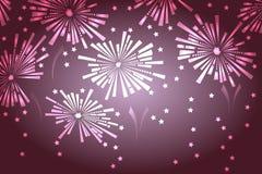 Fundo dos fogos-de-artifício do feriado ilustração do vetor