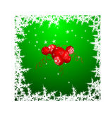 Fundo dos globos do Natal Foto de Stock Royalty Free
