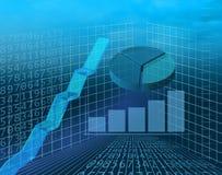 Fundo dos gráficos de negócio Fotos de Stock