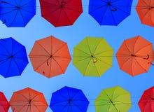 Fundo dos guarda-chuvas Fotografia de Stock