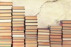 Fundo dos livros velhos Fotografia de Stock