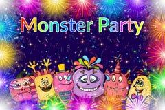 Fundo dos monstro dos desenhos animados Imagem de Stock