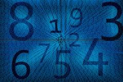 Fundo dos números abstratos Fotografia de Stock Royalty Free