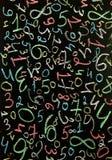 Fundo dos números zero a nove Fundo com números Textura dos números Imagens de Stock Royalty Free