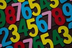 Fundo dos números zero a nove Fundo com números Textura dos números Fotos de Stock Royalty Free