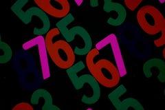 Fundo dos números zero a nove Fundo com números Textura dos números Fotografia de Stock