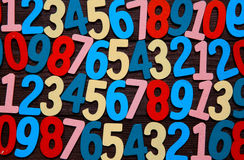 Fundo dos números zero a nove Fundo com números Textura dos números Imagem de Stock