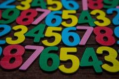 Fundo dos números zero a nove Fundo com números Textura dos números Imagem de Stock Royalty Free