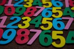 Fundo dos números zero a nove Fundo com números Textura dos números Fotos de Stock