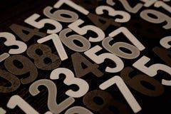 Fundo dos números zero a nove Fundo com números Textura dos números Foto de Stock Royalty Free