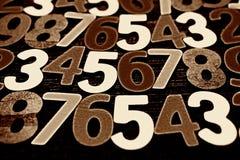 Fundo dos números zero a nove Fundo com números Textura dos números Foto de Stock