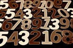Fundo dos números zero a nove Fundo com números Textura dos números Imagens de Stock