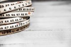 Fundo dos números zero a nove Fundo com números Textura dos números Fita de medição correia do medidor Foto de Stock Royalty Free