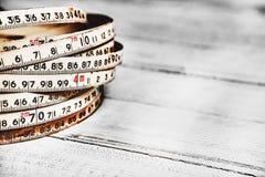 Fundo dos números zero a nove Fundo com números Textura dos números Fita de medição correia do medidor Fotos de Stock