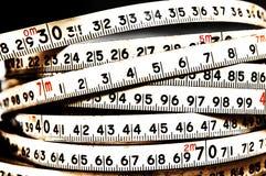 Fundo dos números zero a nove Fundo com números Textura dos números Fita de medição correia do medidor Fotografia de Stock