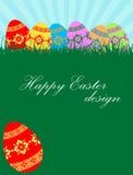 Fundo dos ovos de Easter Imagens de Stock Royalty Free