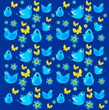 Fundo dos pássaros Fotos de Stock