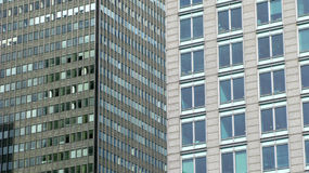 Fundo dos prédios de escritórios Fotografia de Stock