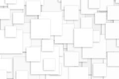 Fundo dos quadrados brancos Imagens de Stock
