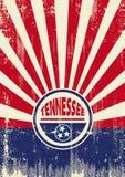 Fundo dos raios de sol de Tennessee Flag Retro Fotografia de Stock