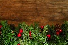 Fundo dos ramos de árvore do Natal Fotografia de Stock Royalty Free
