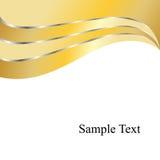 Fundo dos redemoinhos do ouro do vetor Fotos de Stock