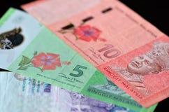 Fundo dos ringgits malaios fotografia de stock royalty free