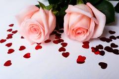 Fundo dos símbolos do dia do ` s do Valentim do St Imagem de Stock Royalty Free