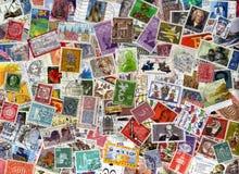 Fundo dos selos de porte postal de Alemanha Fotos de Stock