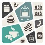 Fundo dos serviços de hotel ilustração stock