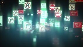Fundo dos sinais de tráfego, metragem conservada em estoque ilustração royalty free