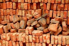 Fundo dos tijolos vermelhos Imagem de Stock Royalty Free