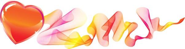 Fundo dos Valentim com coração Foto de Stock Royalty Free