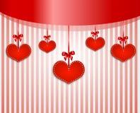 Fundo dos Valentim com corações Imagens de Stock Royalty Free