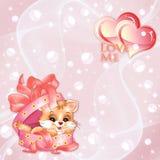 Fundo dos Valentim do vetor com corações Fotografia de Stock